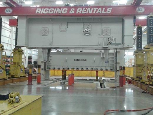 Instalación rigging maniobras